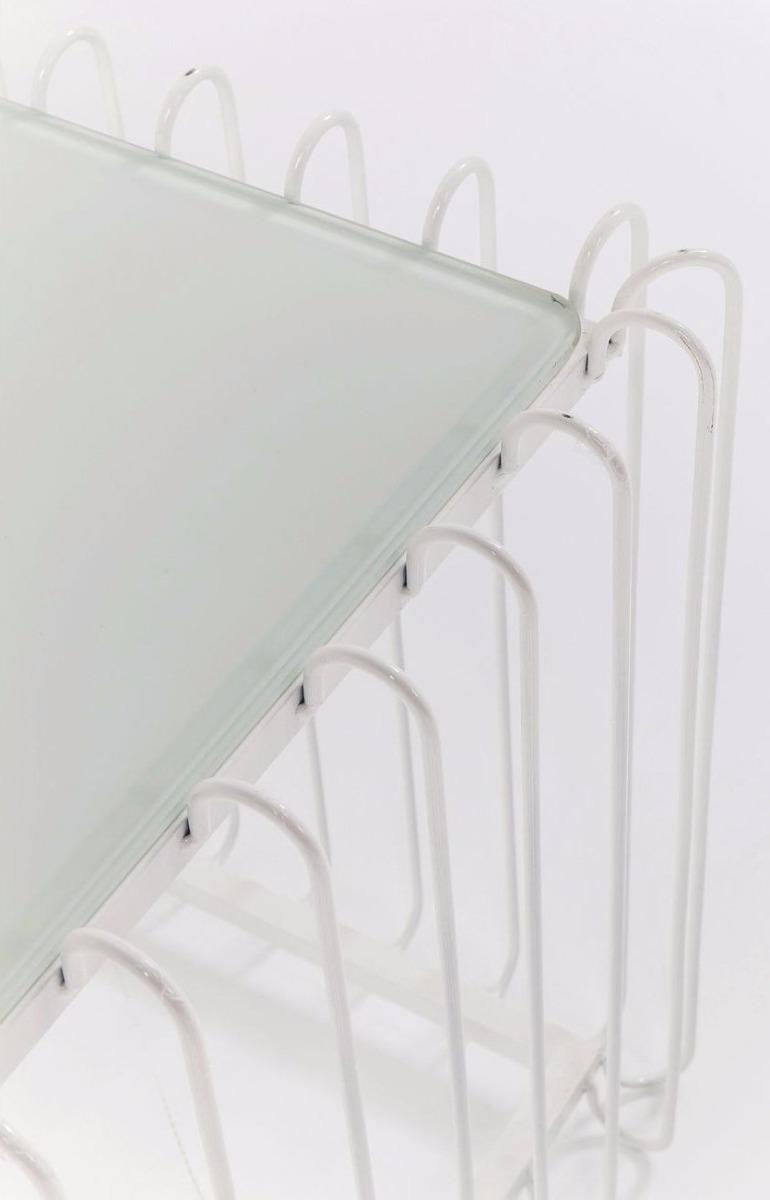 Kare Design Salontafel Wire Rechthoek L115 X B57 X H42 Cm - Glas Wit