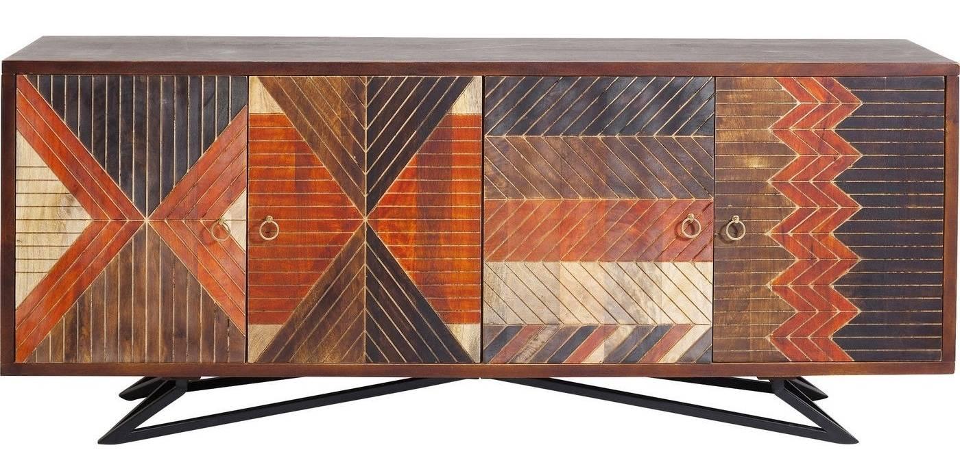Kare Design SALE - Dressoir Tomahawk 4-Deurs - 177x45x76.5 - Mangohout
