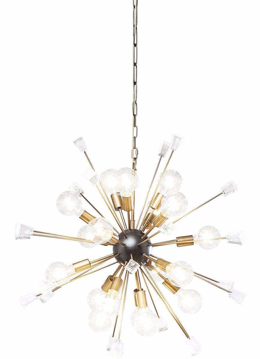 Kare Design Hanglamp Crystal BombØ93cm - 18 Lichts - Messing