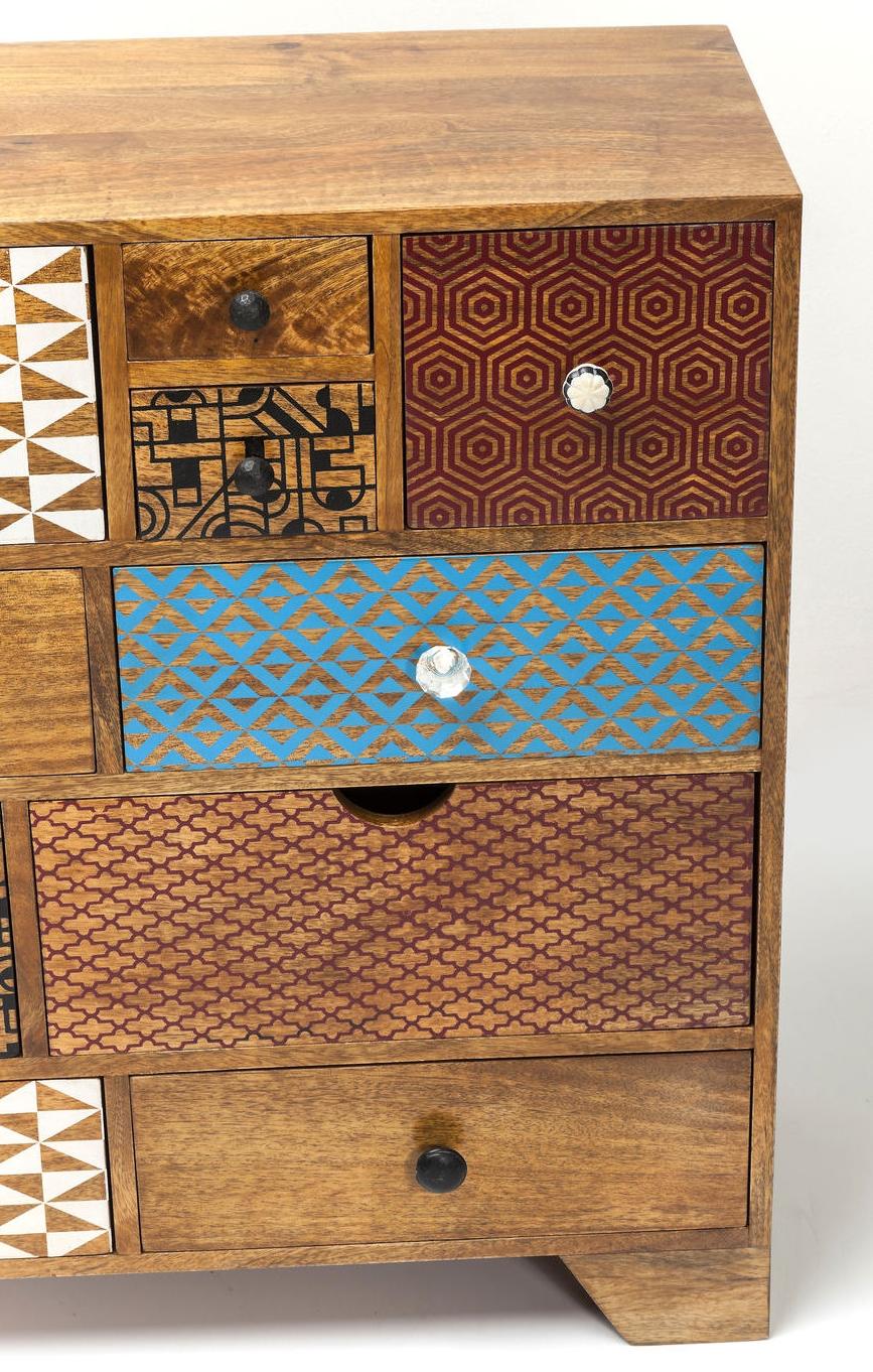 Kare Design Dressoir Soleil - 14 Laden - L115 X B36 X H80 Cm - Mangohout