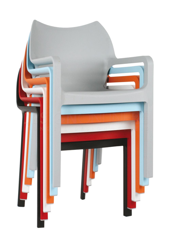 24Designs Tuinstoel Diva - Stapelbaar - Oranje