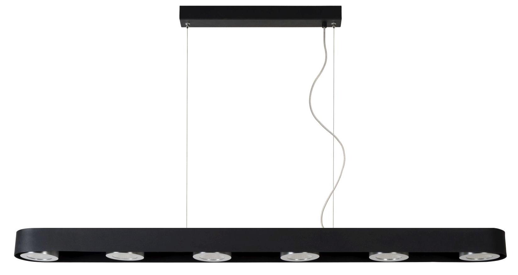Lucide Verstelbare Hanglamp Radus 6 Lichts - Dimbare LED 5W - Zwart