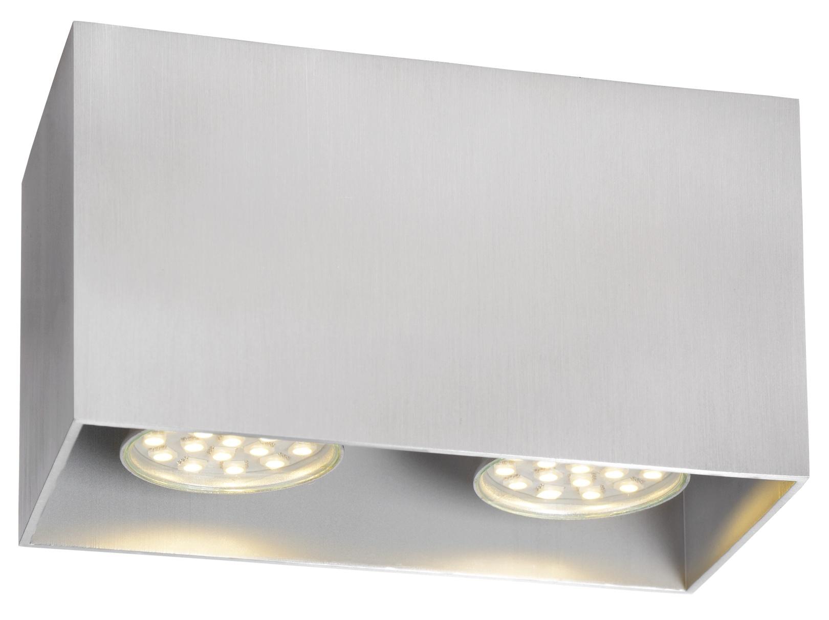 Lucide Plafondspot Bodi - 2 Lichts GU10 - Aluminium