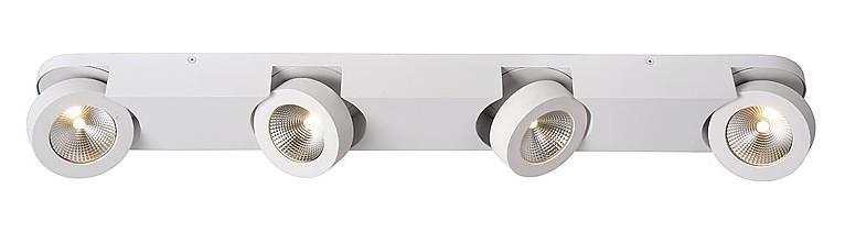 Lucide Plafondspot Mitrax 4 Lichts - Dimbare LED - Mat Wit