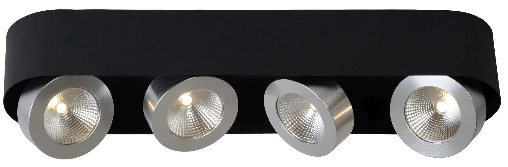 Lucide Plafondspot Radus 4 Lichts - Dimbare LED 5W - Zwart