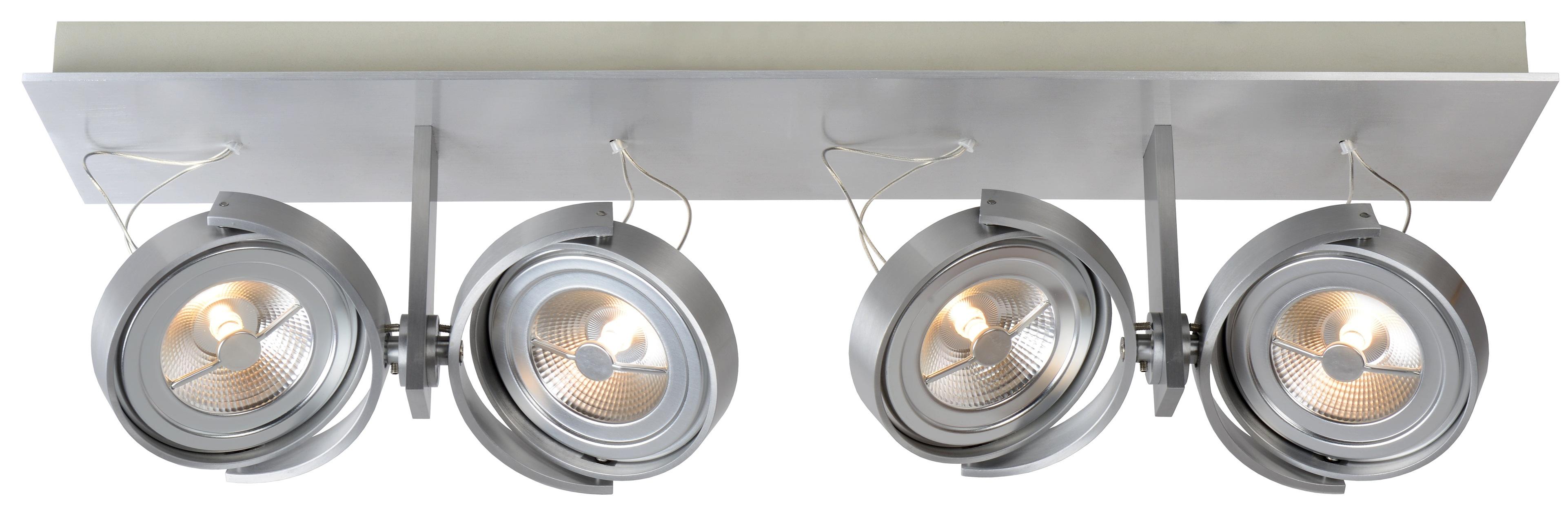 Lucide Plafondspot Spectrum 4 Spots - Dimbare LED - Aluminium