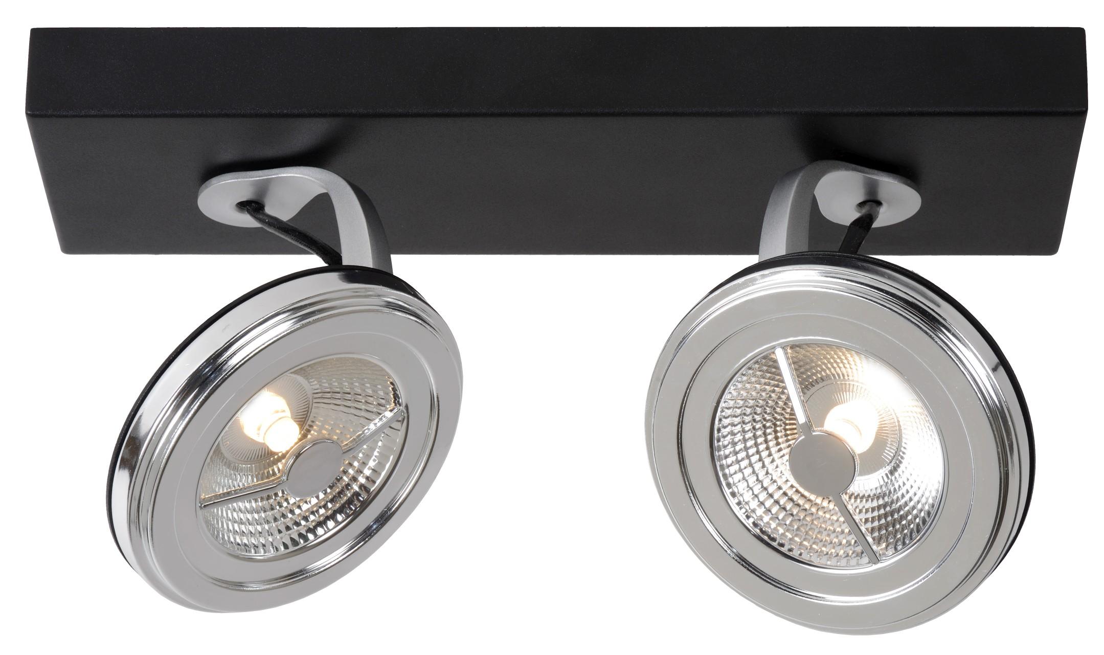 Lucide Plafondspot Xentrix 2 Lichts - Dimbare LED - Zwart