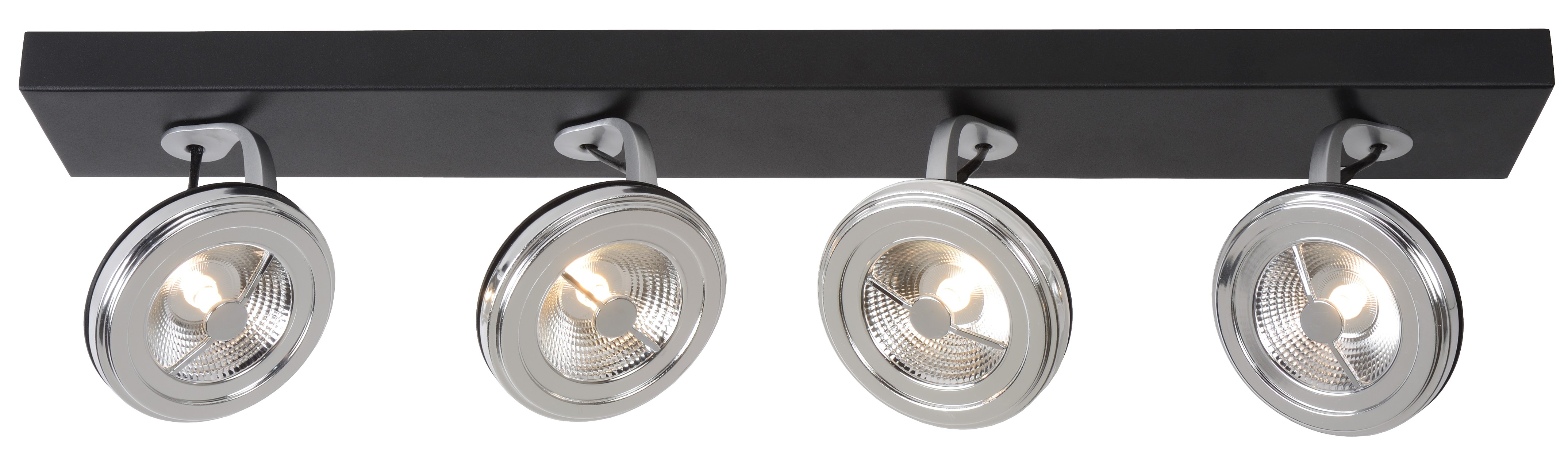 Lucide Plafondspot Xentrix 4 Lichts - Dimbare LED - Zwart