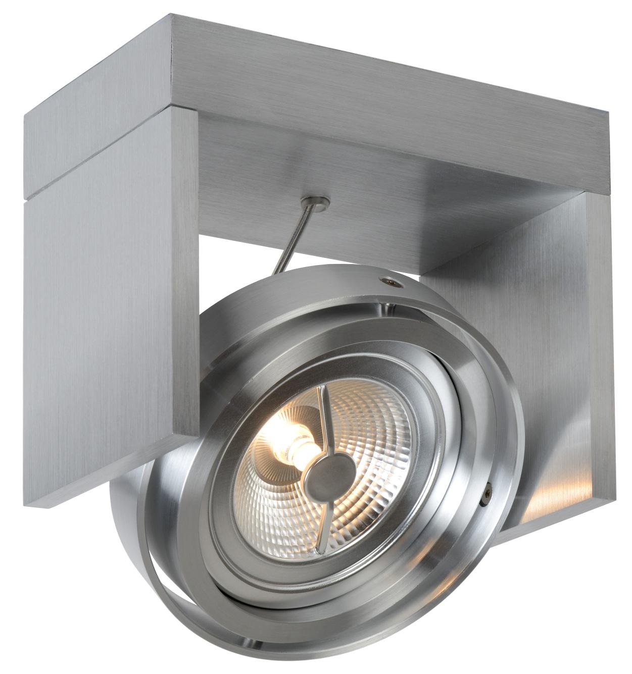 Lucide Plafondspot Zett 1 - Dimbare LED - Aluminium