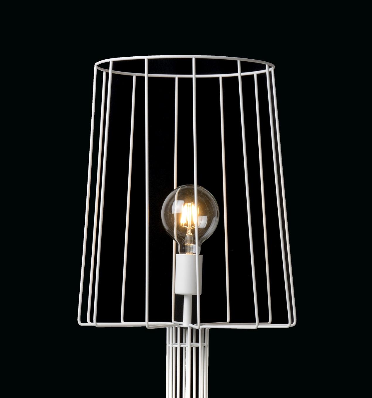 Lucide Vloerlamp Louis - H151 Cm - Wit