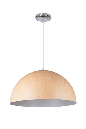 Linea Verdace Hanglamp Cupula Wood Licht - Wit -Ø50cm - H35cm