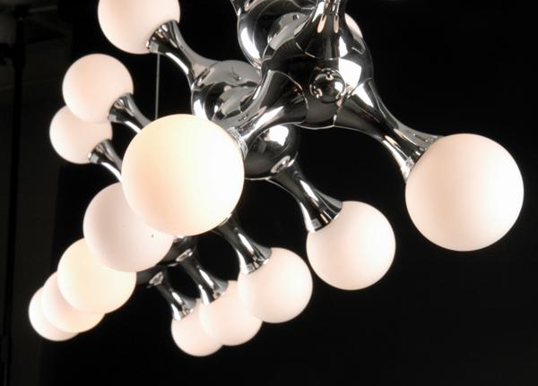 Linea Verdace Hanglamp Atomium Chroom - L25cm - B95cm - H25+40cm