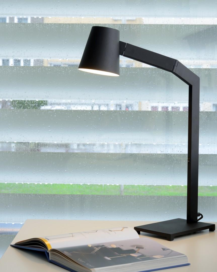 Lucide Bureaulamp Mizuko 1-LichtsØ13 X H67 Cm - Metaal Zwart