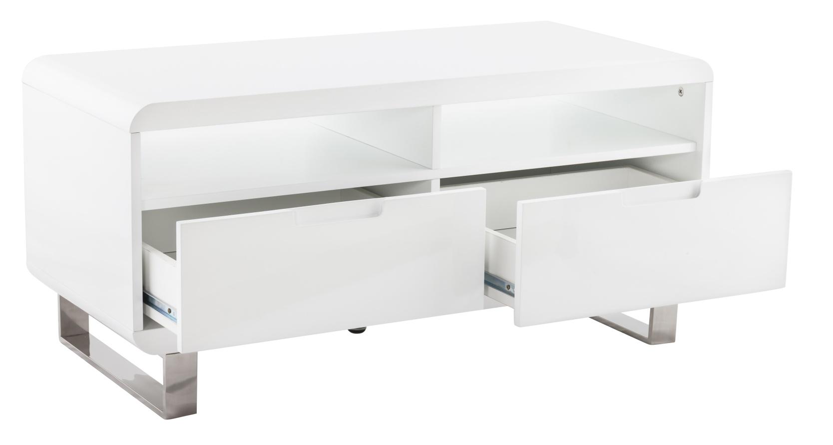 24Designs TV-Meubel Stine - 100x45x46.5 - Wit Hoogglans