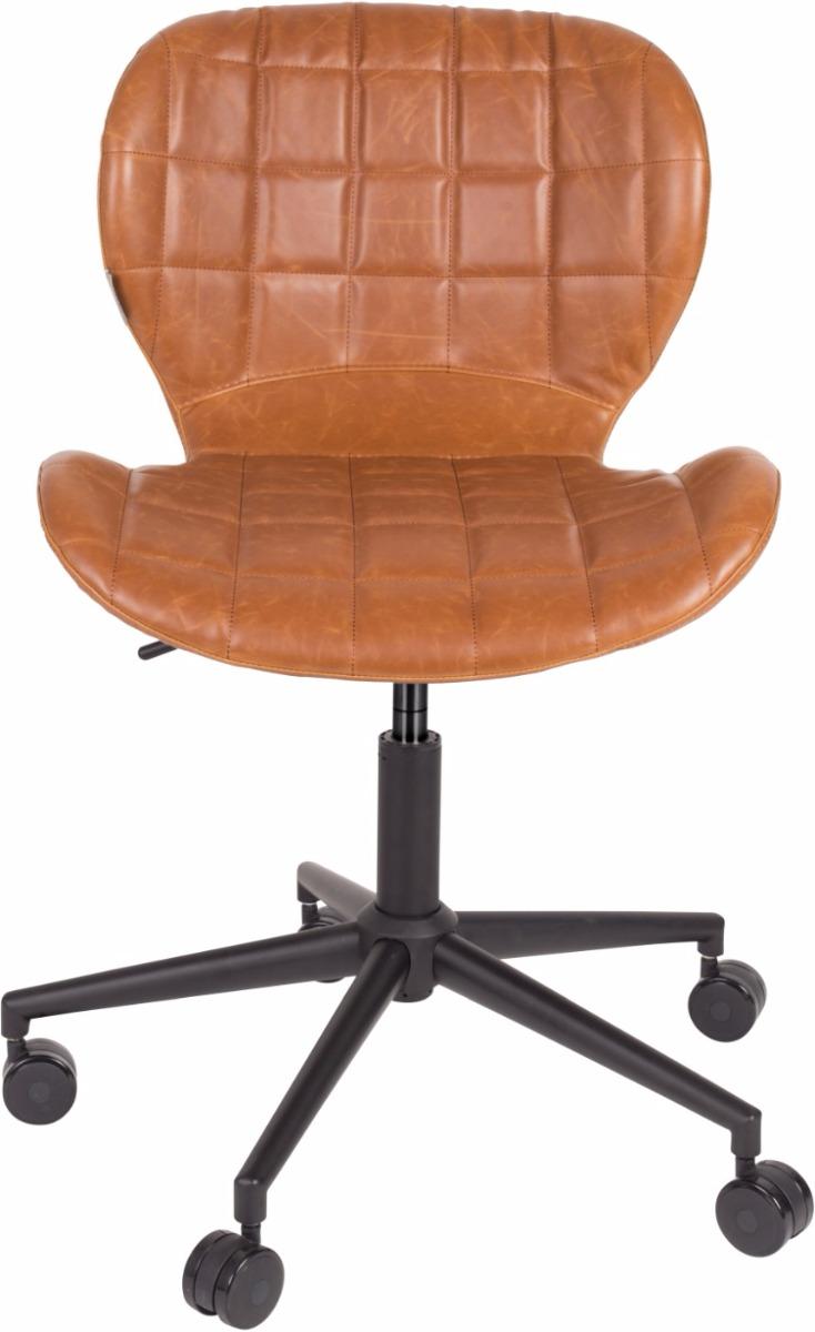 Zuiver Bureaustoel OMG LL - Zithoogte 44 - 56 Cm - Kunstleer Bruin