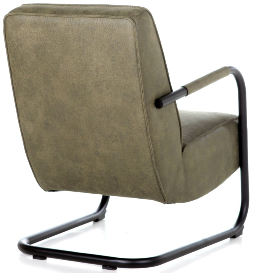 Eleonora Fauteuil Pien Armleuning Zithoogte 45 Cm - Stof Groen