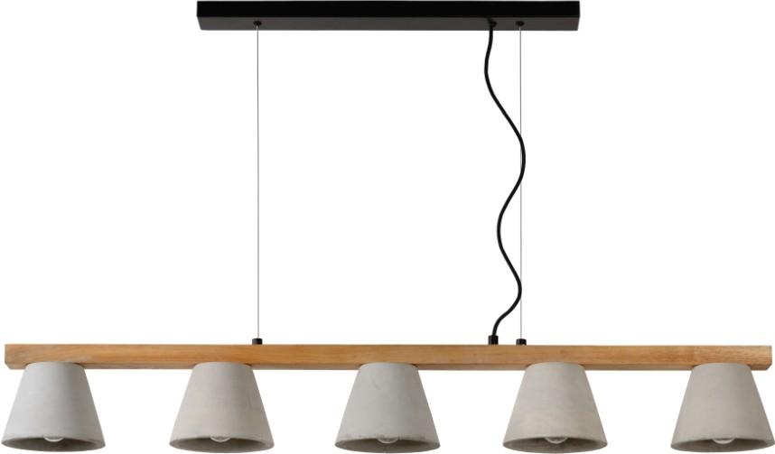 Lucide Sale - Verstelbare Hanglamp Possio 5-Lichts L110 X B15 Cm - Beton Taupe