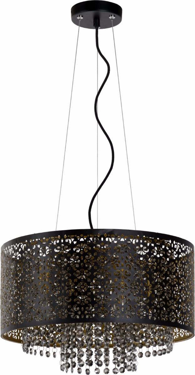 Lucide Verstelbare Hanglamp Raka 4-LichtsØ41 X H19 Cm - Metaal Zwart