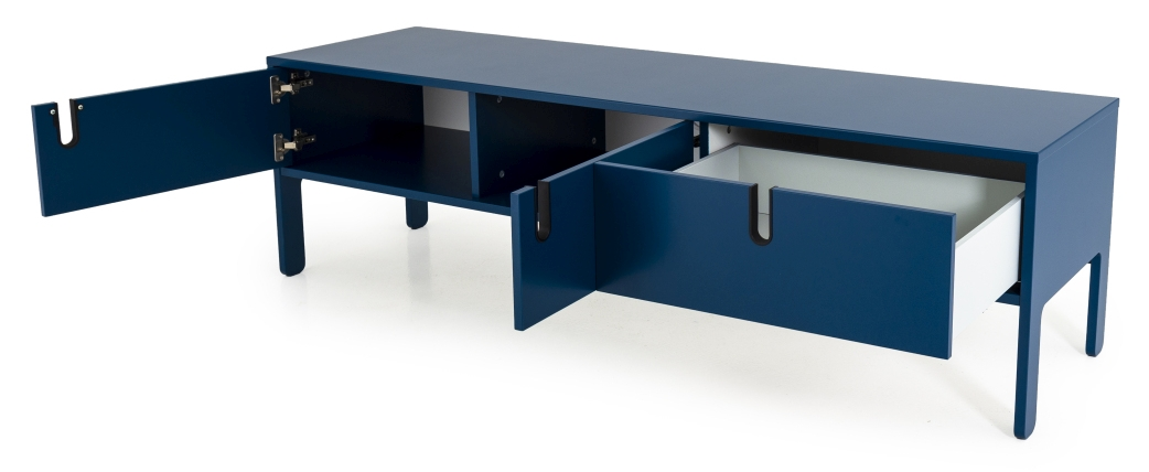 Tenzo UNO Laag Dressoir 2-Deurs/1-Lade - 171x46x50 - Petrol Blauw