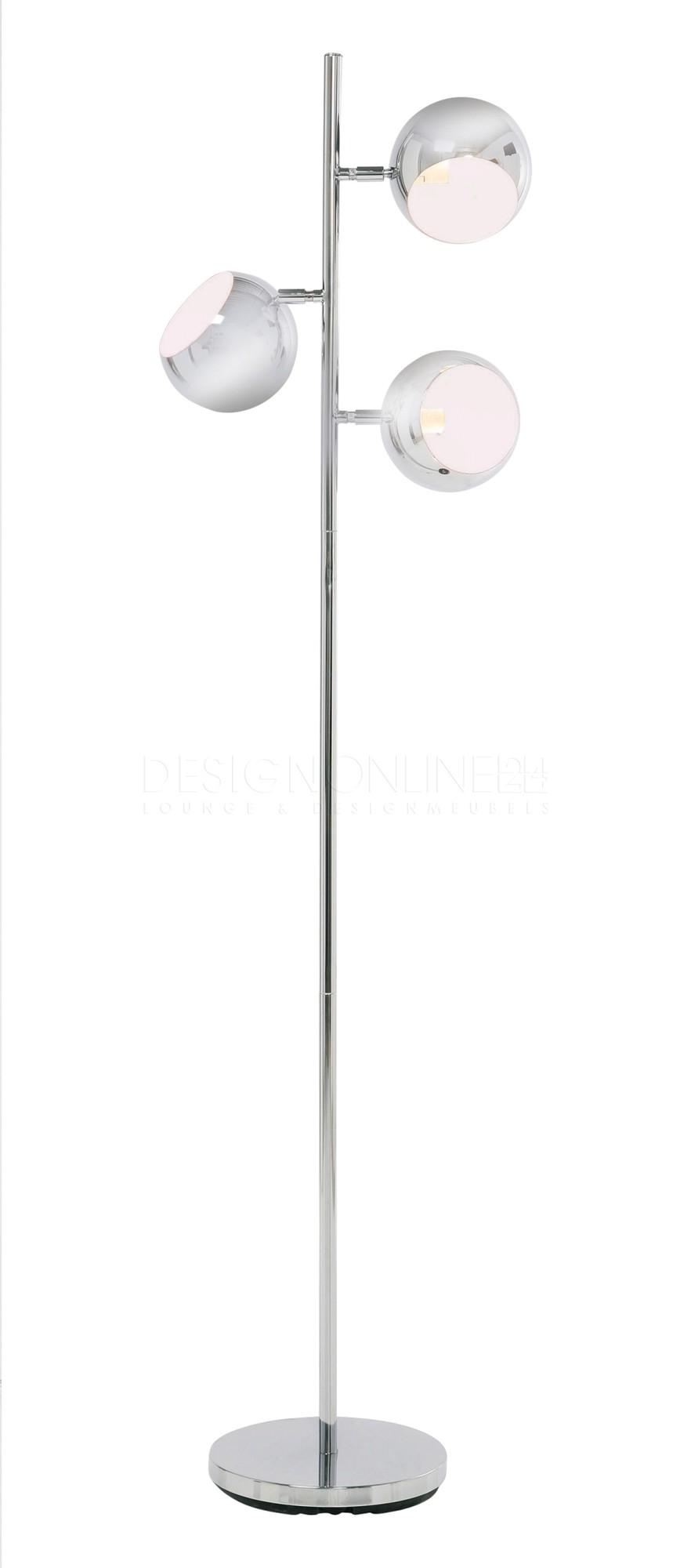 Kare Design Vloerlamp Calotta 3 Lichts - Chroom