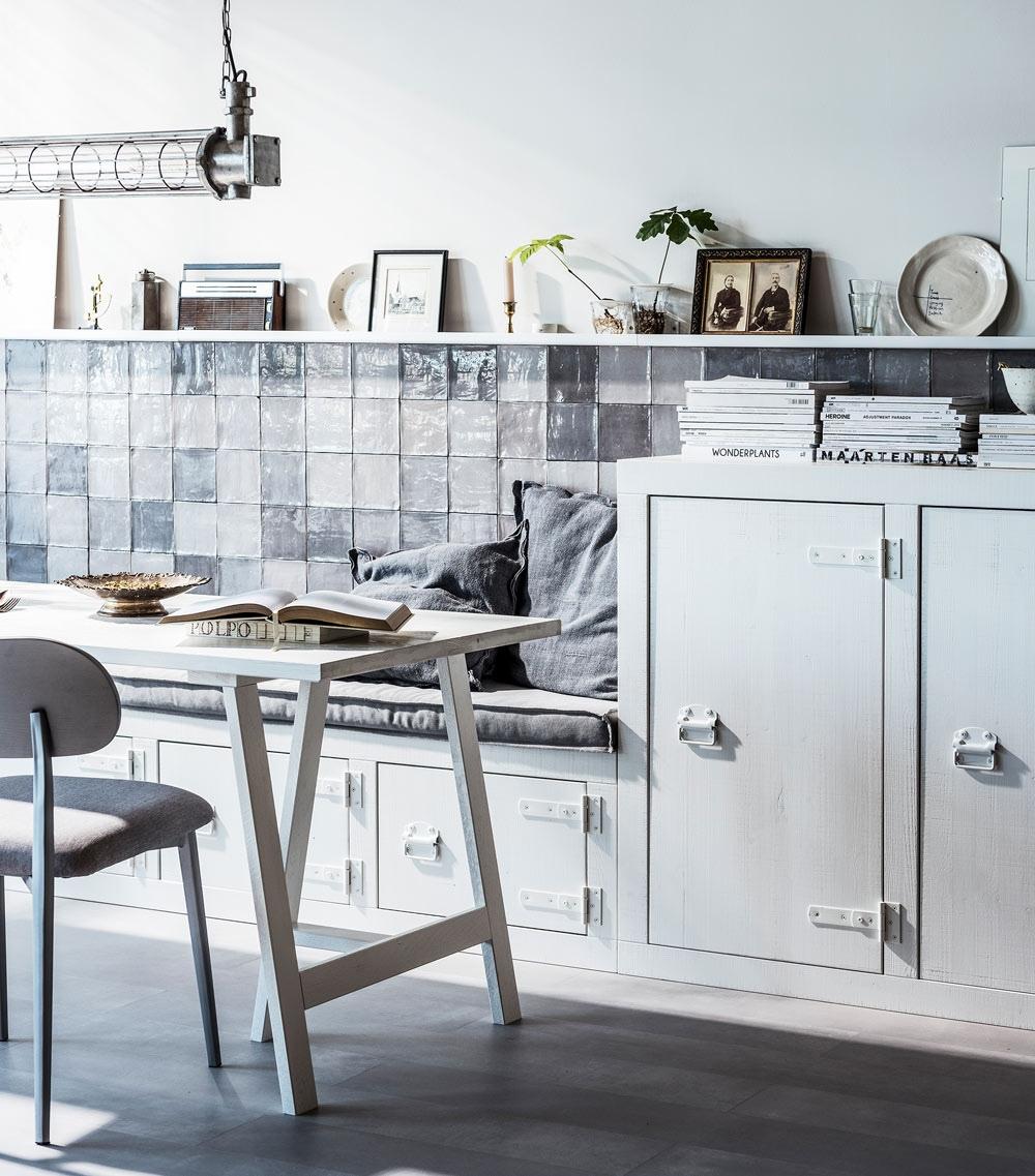 Vtwonen Bunk Cabinet Grenenhout Bandzaag - 177x41x102 - Wit