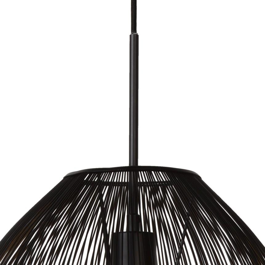 Lucide Verstelbare Hanglamp Wirio 1-LichtsØ36 Cm - Metaal Zwart