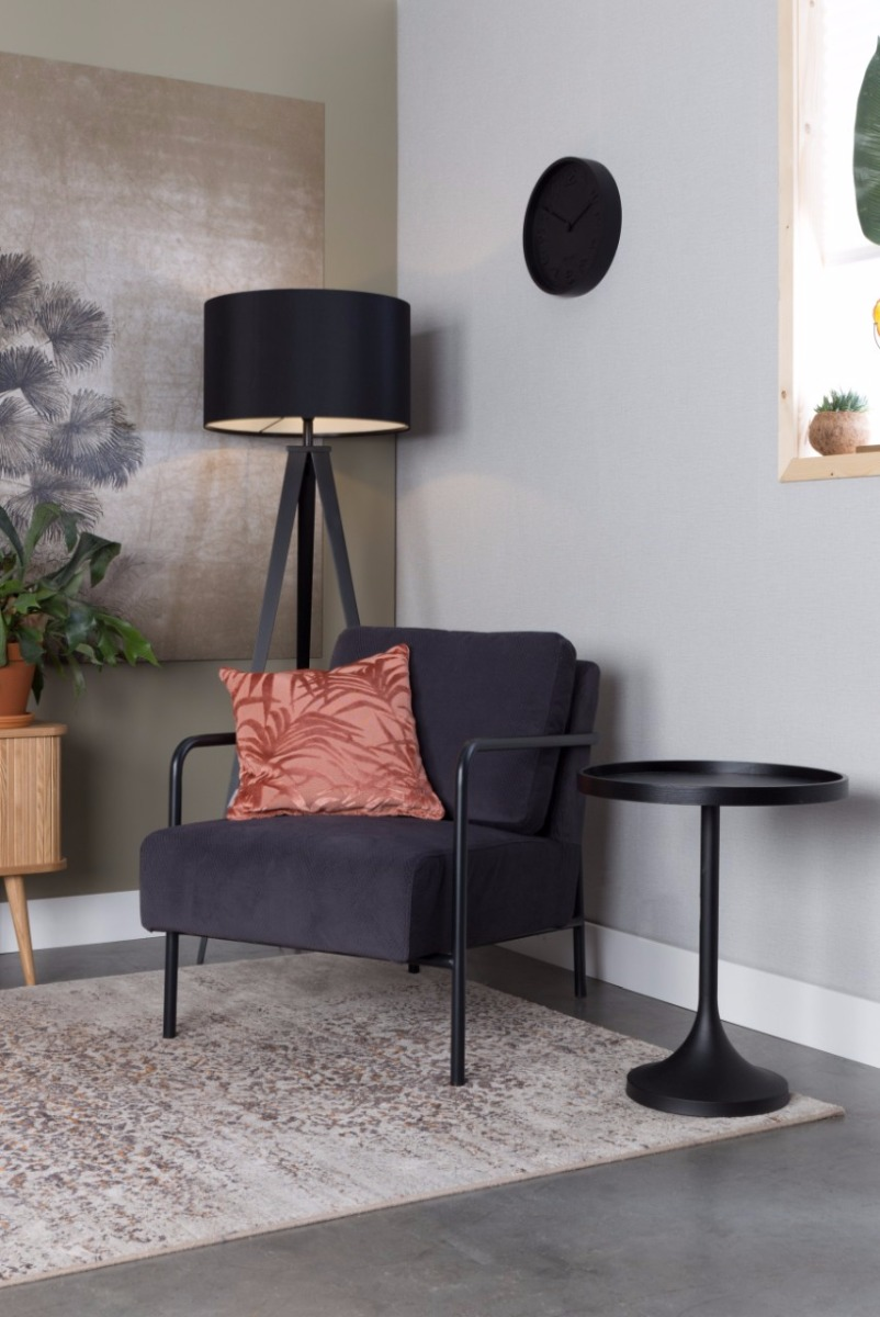 Zuiver Fauteuil X-Bang Zithoogte 42 Cm - Stof Donkergrijs