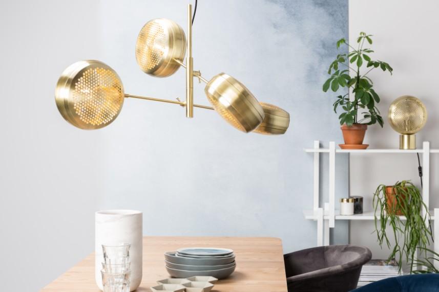 Zuiver Verstelbare Hanglamp Gringo Multi 4-LichtsØ22.5 X H12 Cm - Messing