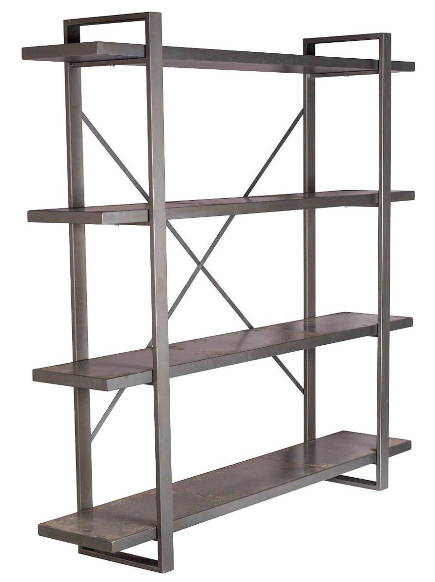 Zuiver Morgan Open Plankenkast - 180x40x180 Cm - Grijs Metaal