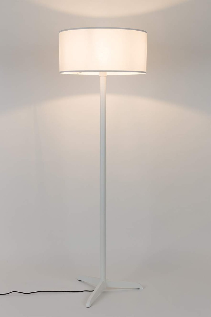 Zuiver Shelby Vloerlamp - Hoogte 155 Cm - Wit