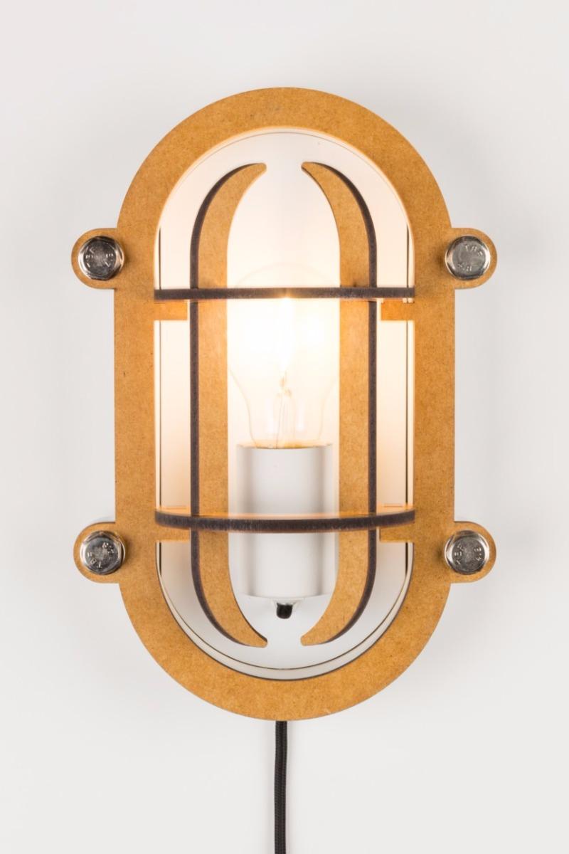 Zuiver Wandlamp Navigator 1-Lichts B18.8 X H28 Cm - Wit