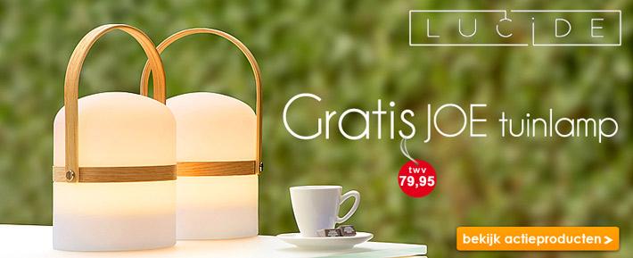 Gratis oplaadbare design tuinlamp - Joe van Lucide