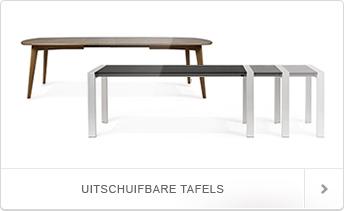 Bekijk hier onze grote collectie uitschuifbare tafels